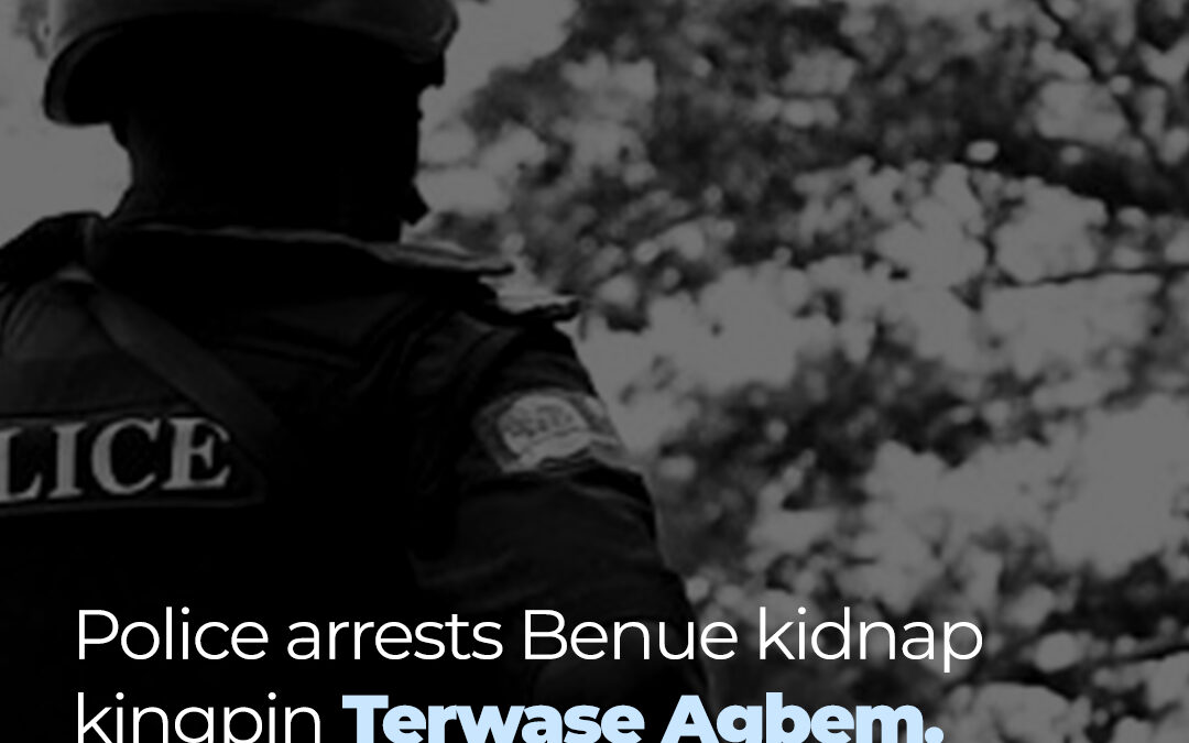 Kidnap Kingpin: Police have confirmed the arrest of a suspected  kidnap kingpin in Benue state, Paul Terwase Agbem