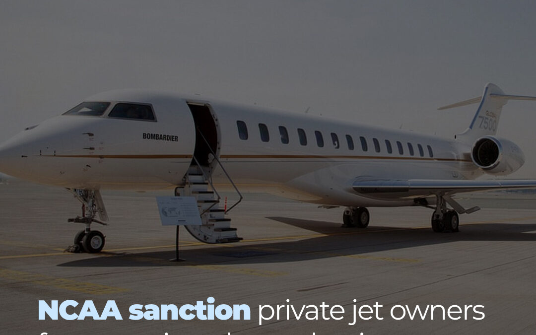 NCAA sanctions private jet owners.