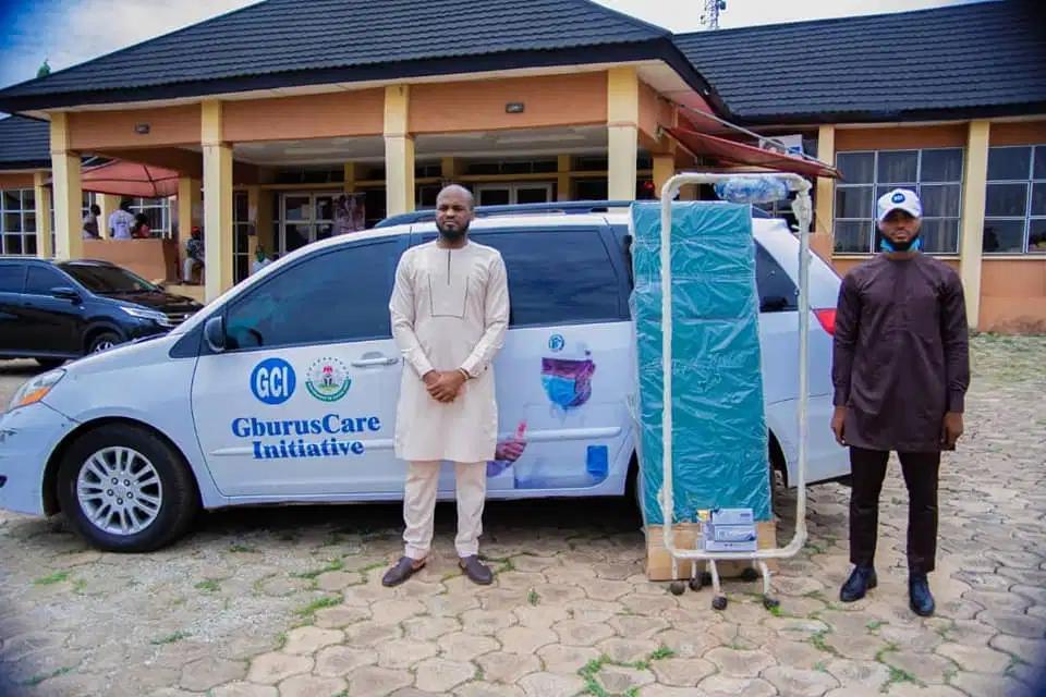Arinze Chilo Offiah, donates medical equipment to Gburus care initiative