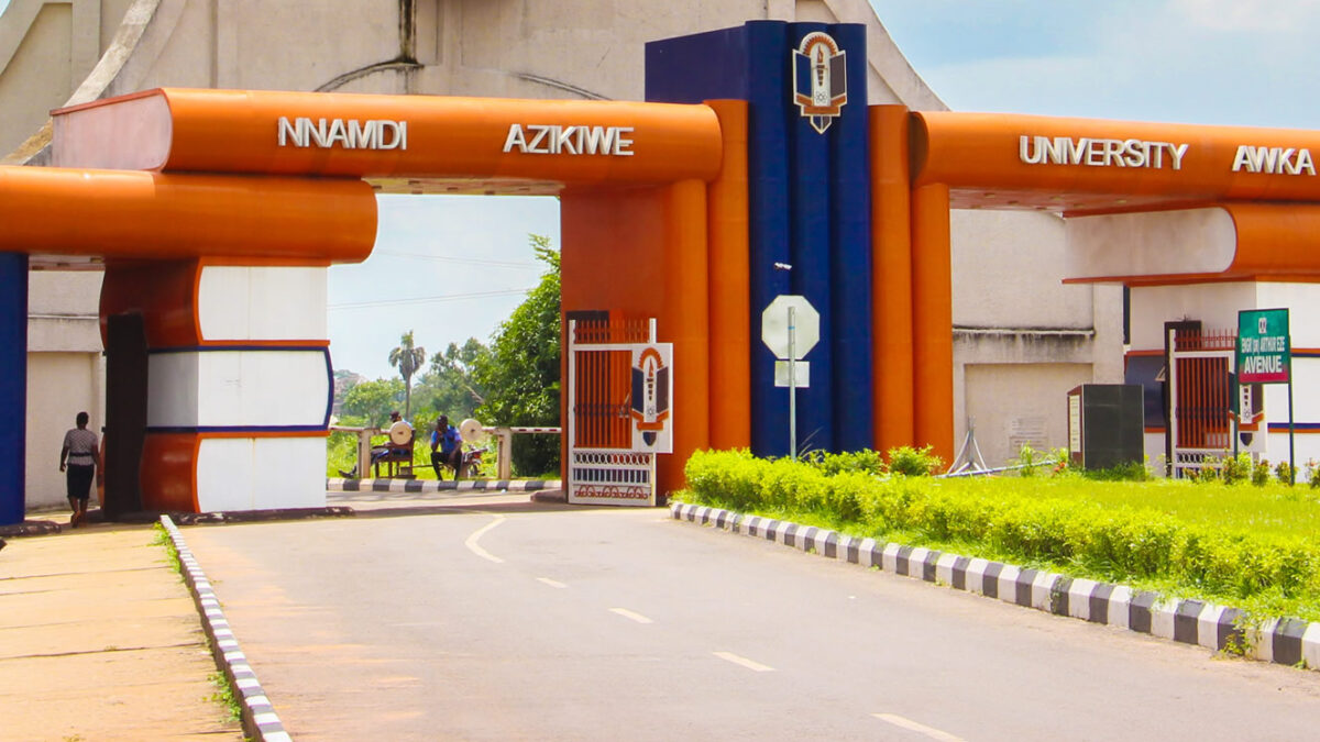 Unizik students Protest the Hike of School fees