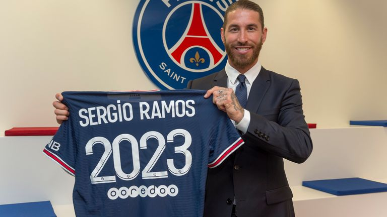 Spain Defender Sergio Ramos Joins PSG on 2-year Contract