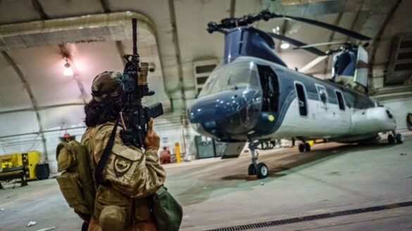 The US Chooper Leaving Afghanistan