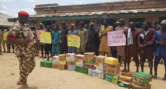 Boko Haram Insurgents Surrender In Borno, Begs for Forgiveness
