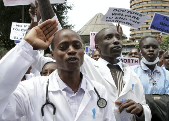 Health Care Workers on Strike