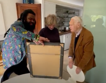 Onyeka Nwelue Pays A Visit To James Currey In Oxford