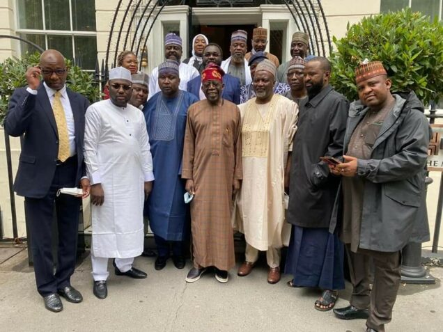 Northern Lawmakers Pay Tinubu A Visit In London And Endorse Him For President